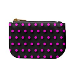 Pink Grey Polka-dot  Mini Coin Purses by OCDesignss
