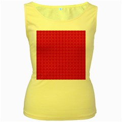 Cute Pattern Gifts Women s Yellow Tank Tops by creativemom