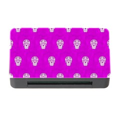 Skull Pattern Hot Pink Memory Card Reader with CF by MoreColorsinLife