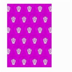 Skull Pattern Hot Pink Large Garden Flag (two Sides) by MoreColorsinLife