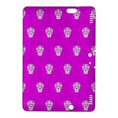 Skull Pattern Hot Pink Kindle Fire Hdx 8 9  Hardshell Case by MoreColorsinLife