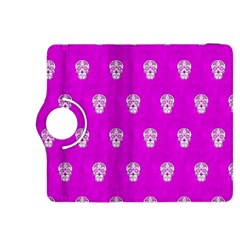 Skull Pattern Hot Pink Kindle Fire Hdx 8 9  Flip 360 Case by MoreColorsinLife