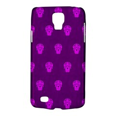 Skull Pattern Purple Galaxy S4 Active by MoreColorsinLife