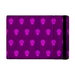 Skull Pattern Purple iPad Mini 2 Flip Cases by MoreColorsinLife