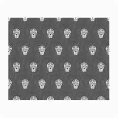 Skull Pattern Silver Small Glasses Cloth (2 Side) by MoreColorsinLife