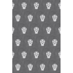 Skull Pattern Silver 5.5  x 8.5  Notebooks by MoreColorsinLife