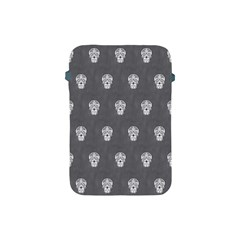 Skull Pattern Silver Apple iPad Mini Protective Soft Cases by MoreColorsinLife