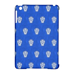 Skull Pattern Inky Blue Apple iPad Mini Hardshell Case (Compatible with Smart Cover) by MoreColorsinLife