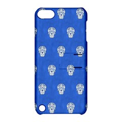 Skull Pattern Inky Blue Apple Ipod Touch 5 Hardshell Case With Stand by MoreColorsinLife