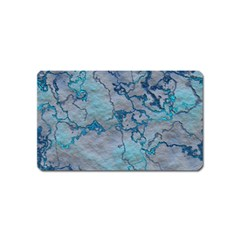 Marbled Lava Blue Magnet (Name Card) by MoreColorsinLife