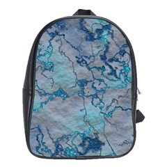 Marbled Lava Blue School Bags (xl)  by MoreColorsinLife