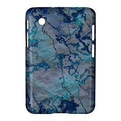Marbled Lava Blue Samsung Galaxy Tab 2 (7 ) P3100 Hardshell Case  by MoreColorsinLife
