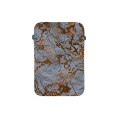 Marbled Lava Orange Apple Ipad Mini Protective Soft Cases by MoreColorsinLife