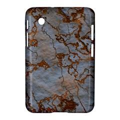 Marbled Lava Orange Samsung Galaxy Tab 2 (7 ) P3100 Hardshell Case  by MoreColorsinLife