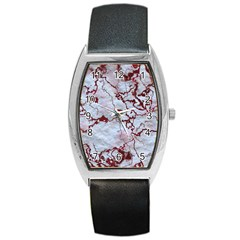 Marbled Lava Red Barrel Metal Watches by MoreColorsinLife