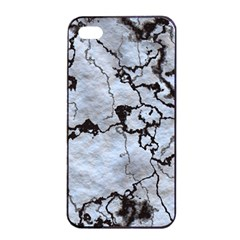 Marbled Lava White Black Apple Iphone 4/4s Seamless Case (black)
