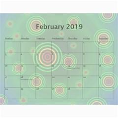 Colorful Calendar 2016 By Galya   Wall Calendar 11  X 8 5  (12 Months)   N5u84xwnxnms   Www Artscow Com Feb 2016