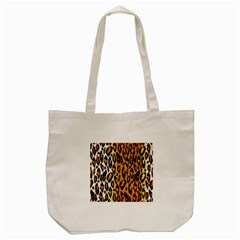 Cheetah Abstract Pattern  Tote Bag (cream)  by OCDesignss