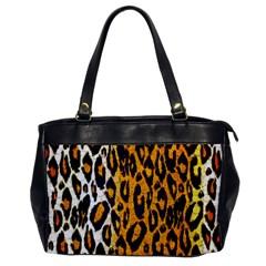 Cheetah Abstract Pattern  Office Handbags by OCDesignss