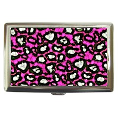 Pink Black Cheetah Abstract  Cigarette Money Cases by OCDesignss