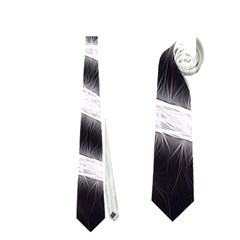 Black&White Zebra Abstract Pattern  Neckties (Two Side)  by OCDesignss