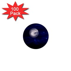 Moon and Stars 1  Mini Magnets (100 pack)