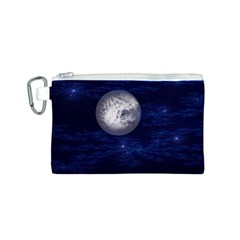Moon And Stars Canvas Cosmetic Bag (s) by theunrulyartist