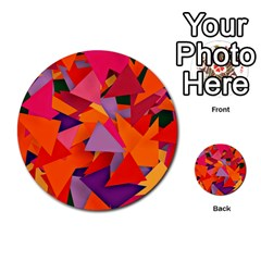 Geo Fun 8 Hot Colors Multi Purpose Cards (round)  by MoreColorsinLife