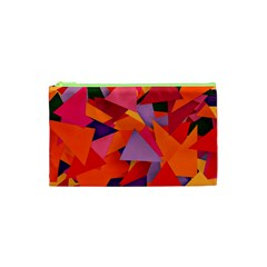 Geo Fun 8 Hot Colors Cosmetic Bag (xs) by MoreColorsinLife