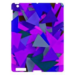 Geo Fun 8 Inky Blue Apple Ipad 3/4 Hardshell Case by MoreColorsinLife