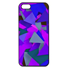 Geo Fun 8 Inky Blue Apple Iphone 5 Seamless Case (black) by MoreColorsinLife