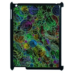 Lovely Allover Bubble Shapes Green Apple Ipad 2 Case (black) by MoreColorsinLife