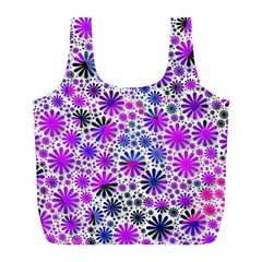 Lovely Allover Flower Shapes Pink Full Print Recycle Bags (l)  by MoreColorsinLife