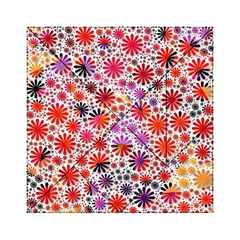 Lovely Allover Flower Shapes Acrylic Tangram Puzzle (6  x 6 ) by MoreColorsinLife