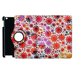 Lovely Allover Flower Shapes Apple Ipad 2 Flip 360 Case by MoreColorsinLife