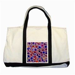 Lovely Allover Hot Shapes Blue Two Tone Tote Bag