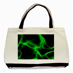 Cosmic Energy Green Basic Tote Bag  by ImpressiveMoments