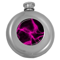 Cosmic Energy Pink Round Hip Flask (5 oz) by ImpressiveMoments