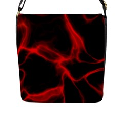 Cosmic Energy Red Flap Messenger Bag (l)  by ImpressiveMoments