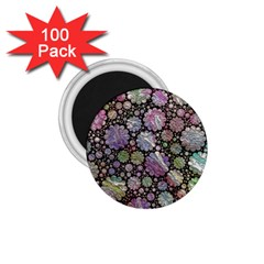 Sweet Allover 3d Flowers 1 75  Magnets (100 Pack)  by MoreColorsinLife