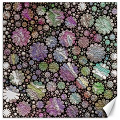 Sweet Allover 3d Flowers Canvas 12  X 12   by MoreColorsinLife