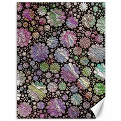 Sweet Allover 3d Flowers Canvas 36  X 48   by MoreColorsinLife