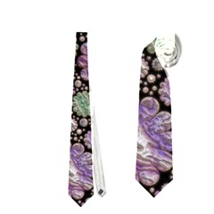 Sweet Allover 3d Flowers Neckties (two Side)  by MoreColorsinLife