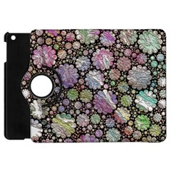 Sweet Allover 3d Flowers Apple Ipad Mini Flip 360 Case by MoreColorsinLife