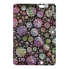 Sweet Allover 3d Flowers Kindle Fire Hdx 8 9  Hardshell Case by MoreColorsinLife