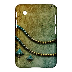 Elegant Vintage With Pearl Necklace Samsung Galaxy Tab 2 (7 ) P3100 Hardshell Case  by FantasyWorld7
