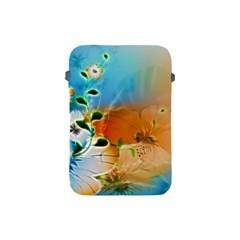 Wonderful Flowers In Colorful And Glowing Lines Apple Ipad Mini Protective Soft Cases by FantasyWorld7