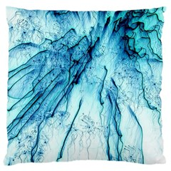 Special Fireworks, Aqua Large Cushion Cases (two Sides)  by ImpressiveMoments