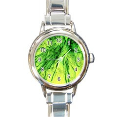Special Fireworks, Green Round Italian Charm Watches by ImpressiveMoments