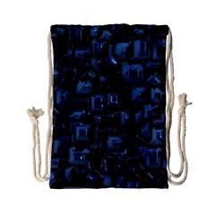 Metalart 23 Blue Drawstring Bag (small) by MoreColorsinLife